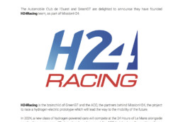 A team is born! MissionH24 introduces H24Racing. Press Kit EV.