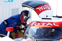 ELMS Spa 2019, la LMPH2G de l'écurie H24Racing effectue son ravitaillement en hydrogène à la station Total lors des essais libres de la manche de Michelin Le Mans Cup. Copyright Jakob Ebrey/MissionH24.