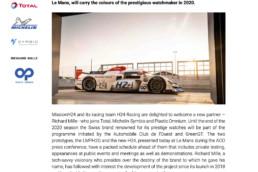 20200918 Press Release - Richard Mille joins MissionH24.