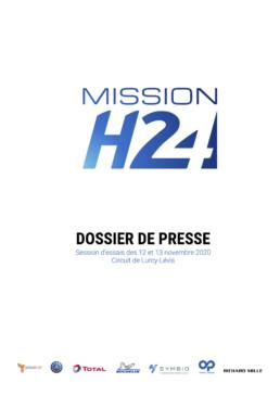 20201111 MISSIONH24 ESSAIS LURCY LEVIS 20201112 et 13 Dossier de Presse COUVERTURE